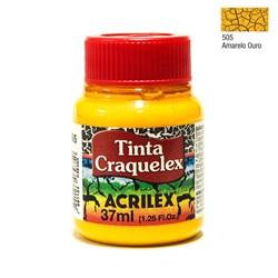 Tinta Craquelex Acrilex 37mL - 505 Amarelo Ouro
