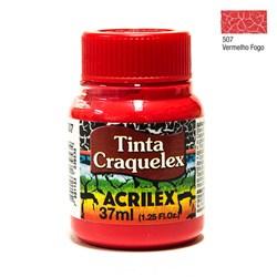 Tinta Craquelex Acrilex 37mL - 507 Vermelho Fogo