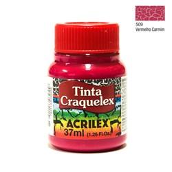 Tinta Craquelex Acrilex 37mL - 509 Vermelho Carmim