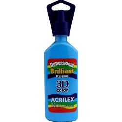 Tinta Dimensional Brilhante Relevo 3D Acrilex 35mL  - 503 Azul Celeste