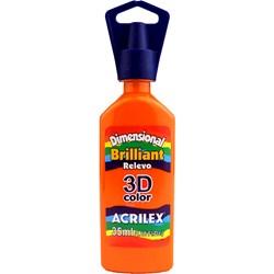 Tinta Dimensional Brilhante Relevo 3D Acrilex 35mL  - 517 Laranja