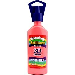 Tinta Dimensional Brilhante Relevo 3D Acrilex 35mL  - 567 Rosa Chá