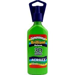 Tinta Dimensional Brilhante Relevo 3D Acrilex 35mL  - 572 Verde Abacate
