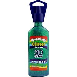 Tinta Dimensional Glitter 3D Acrilex 35mL  - 206 Verde