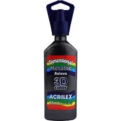 Tinta Dimensional Metálica Relevo 3D Acrilex 35mL  - 520 Preto