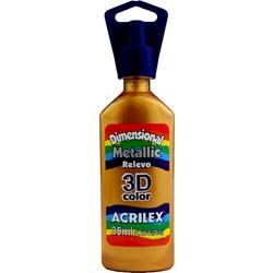 Tinta Dimensional Metálica Relevo 3D Acrilex 35mL  - 548 Ouro Velho