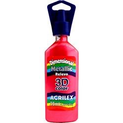 Tinta Dimensional Metálica Relevo 3D Acrilex 35mL  - 555 Vermelho