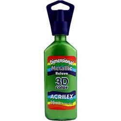 Tinta Dimensional Metálica Relevo 3D Acrilex 35mL  - 873 Verde Kiwi