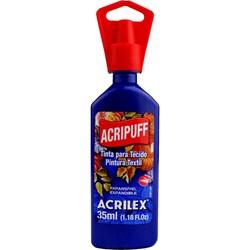 Tinta para Tecido Acripuff Expansão a Calor Acrilex 35mL - 501 Azul Turquesa