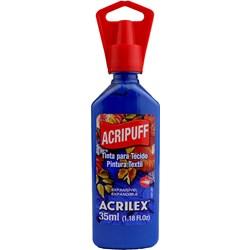 Tinta para Tecido Acripuff Expansão a Calor Acrilex 35mL - 502 Azul Cobalto
