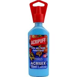 Tinta para Tecido Acripuff Expansão a Calor Acrilex 35mL - 503 Azul Celeste