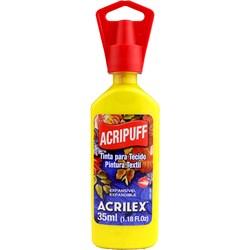Tinta para Tecido Acripuff Expansão a Calor Acrilex 35mL - 505 Amarelo Ouro