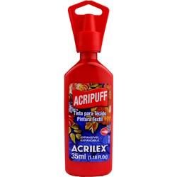 Tinta para Tecido Acripuff Expansão a Calor Acrilex 35mL - 507 Vermelho Fogo