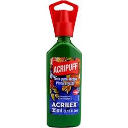 Tinta para Tecido Acripuff Expansão a Calor Acrilex 35mL - 513 Verde Musgo