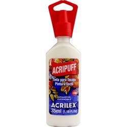 Tinta para Tecido Acripuff Expansão a Calor Acrilex 35mL - 519 Branco