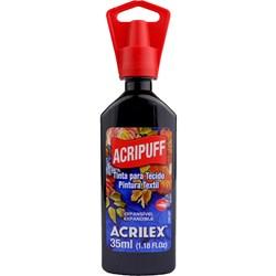 Tinta para Tecido Acripuff Expansão a Calor Acrilex 35mL - 520 Preto