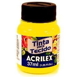 Tinta para Tecido Fluorescente Acrilex 37mL - 102 Amarelo Limão