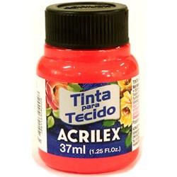 Tinta para Tecido Fluorescente Acrilex 37mL - 103 Vermelho