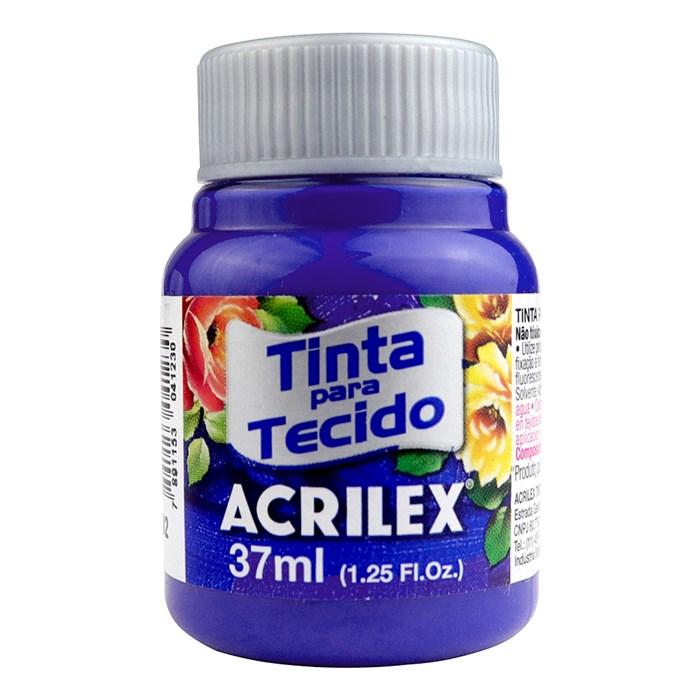 Tinta para Tecido Fosca Acrilex 37mL - 502 Azul Cobalto