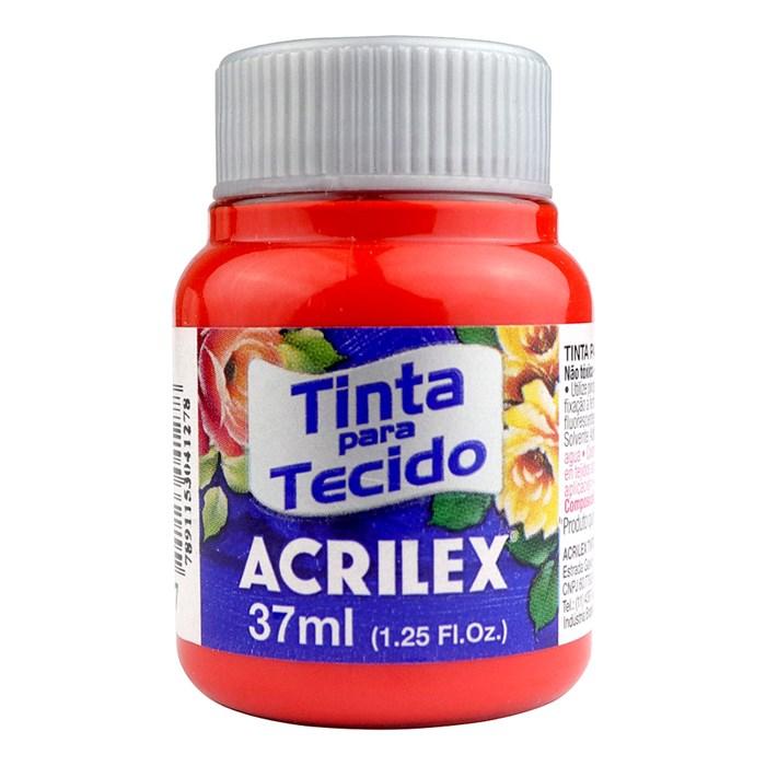 Tinta para Tecido Fosca Acrilex 37mL - 507 Vermelho Fogo