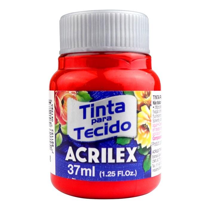 Tinta para Tecido Fosca Acrilex 37mL - 508 Vermelho Escarlate
