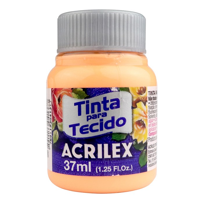 Tinta para Tecido Fosca Acrilex 37mL - 518 Salmão