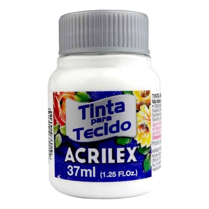 Tinta para Tecido Fosca Acrilex 37mL - 519 Branco