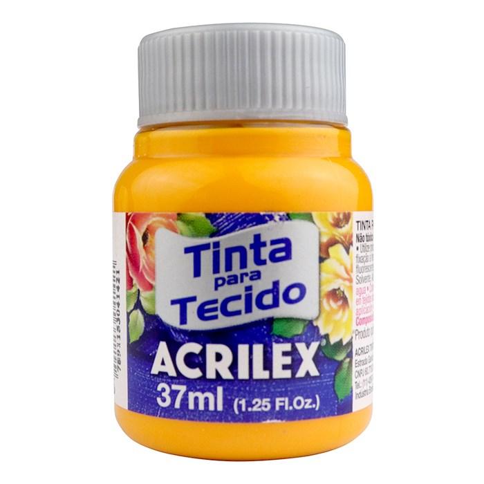 Tinta para Tecido Fosca Acrilex 37mL - 536 Amarelo Cadmio