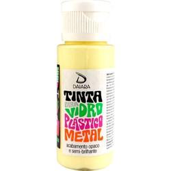 Tinta para Vidro, Plástico e Metal 60mL Daiara - 02 Amarelo Claro