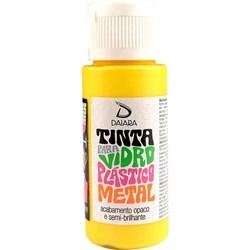 Tinta para Vidro, Plástico e Metal 60mL Daiara - 03 Amarelo Gema