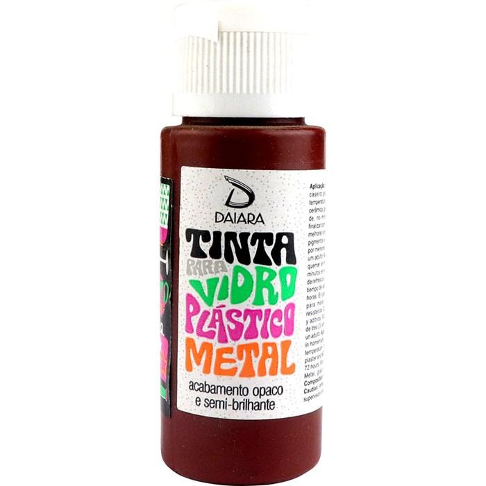 Tinta para Vidro, Plástico e Metal 60mL Daiara - 29 Marrom Chocolate
