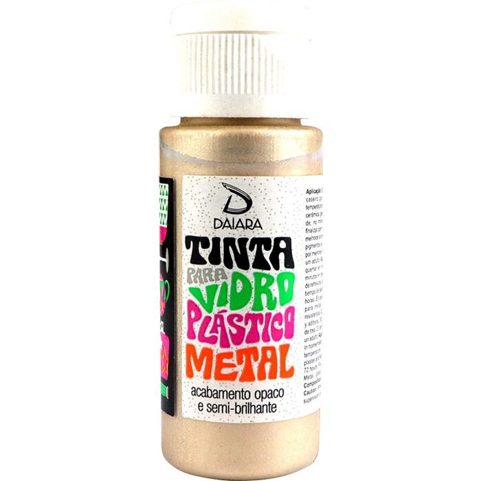Tinta para Vidro, Plástico e Metal 60mL Daiara - 52 Champagne Metálico
