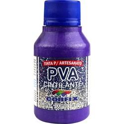 Tinta PVA Cintilante Corfix 100ml 328 Violeta Cobalto