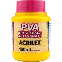 Tinta PVA Fosca para Artesanato Acrilex 100mL - 505 Amarelo Ouro