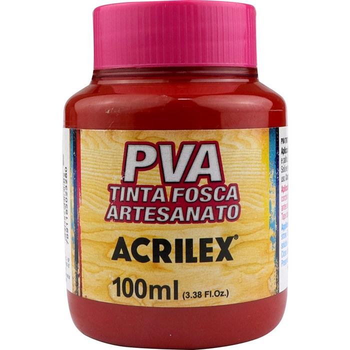 Tinta PVA Fosca para Artesanato Acrilex 100mL - 508 Vermelho Escarlate