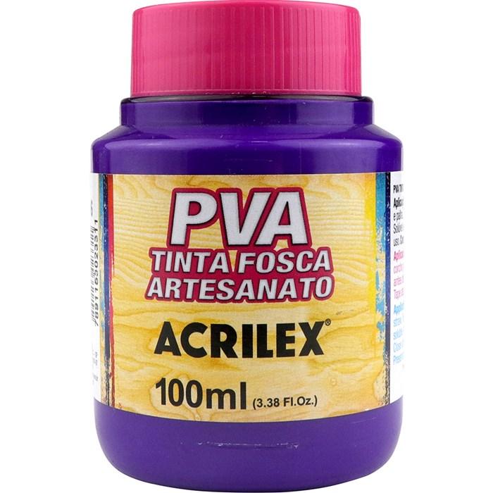 Tinta PVA Fosca para Artesanato Acrilex 100mL - 516 Violeta