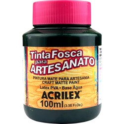 Tinta PVA Fosca para Artesanato Acrilex 100mL - 571 Verde Esmeralda