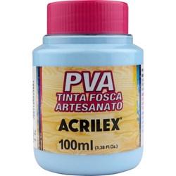 Tinta PVA Fosca para Artesanato Acrilex 100mL - 579 Azul Hortensia