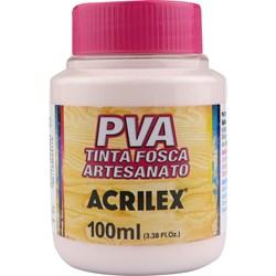 Tinta PVA Fosca para Artesanato Acrilex 100mL - 813 Rosa Bebê