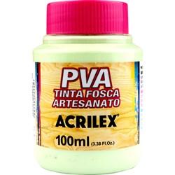 Tinta PVA Fosca para Artesanato Acrilex 100mL - 820 Verde Primavera