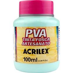 Tinta PVA Fosca para Artesanato Acrilex 100mL - 821 Verde Água