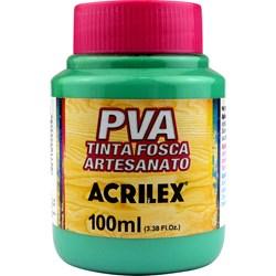 Tinta PVA Fosca para Artesanato Acrilex 100mL  - 822 Verde Country