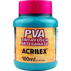 Tinta PVA Fosca para Artesanato Acrilex 100mL - 823 Azul Piscina