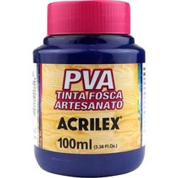 Tinta PVA Fosca para Artesanato Acrilex 100mL - 824 Azul Seco