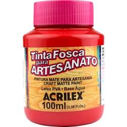 Tinta PVA Fosca para Artesanato Acrilex 100mL - 827 Romã
