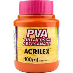 Tinta PVA Fosca para Artesanato Acrilex 100mL - 832 Laranja Escuro