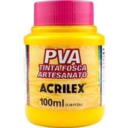 Tinta PVA Fosca para Artesanato Acrilex 100mL - 833 Amarelo Gema