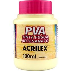 Tinta PVA Fosca para Artesanato Acrilex 100mL Amarelo Bebê