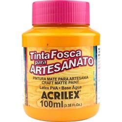 Tinta PVA Fosca para Artesanato Acrilex 100mL Amarelo Cadmio