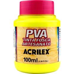 Tinta PVA Fosca para Artesanato Acrilex 100mL Amarelo Limão